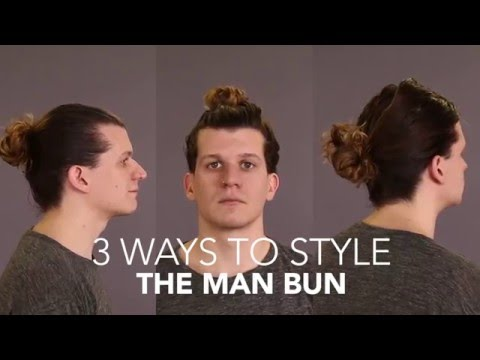 How to Cut and Style: The Man Bun