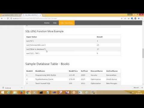 SQL LEN() | LENGTH() Function
