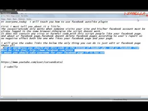 Facebook Autolike  Working Script Code Wordpress