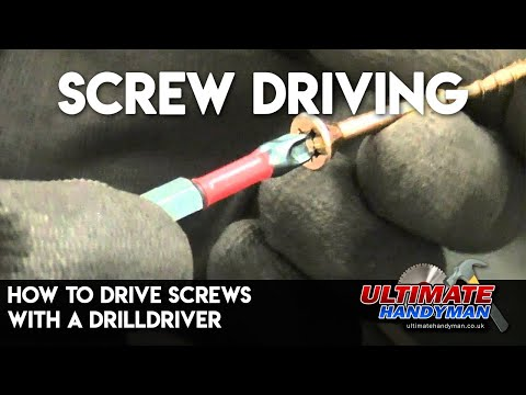 How to drive screws with a drill/driver
