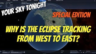 Why Is the Solar Eclipse of 2017 Moving From West to East?