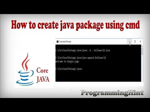 How to create package in core java using command prompt in windows?