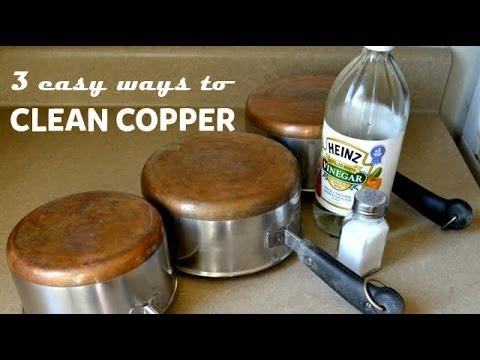 3 easy ways to clean copper