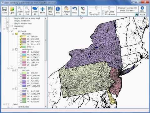 Sales Territory Map - Add, Delete, Rename, and Move Territories - www.SalesTerritoryMap.com