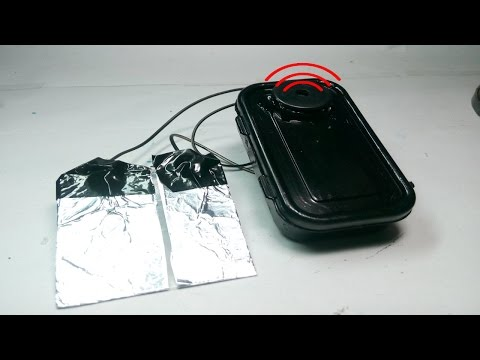 How to make Water Overflow Alarm from aluminium foil at Home-Simple