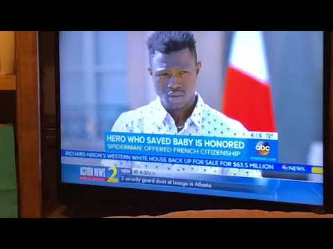 Mamoudou Gassama French Spiderman Granted Citizenship After Rescue Of Child