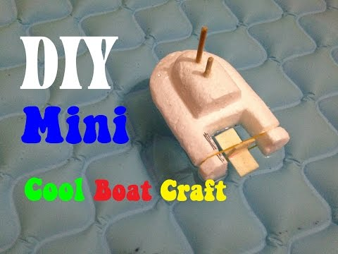 How to make a Cool Boat Craft - DIY toy boat