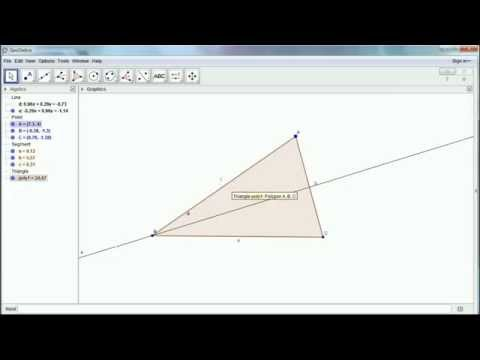 Locating the centres of a triangle using GeoGebra