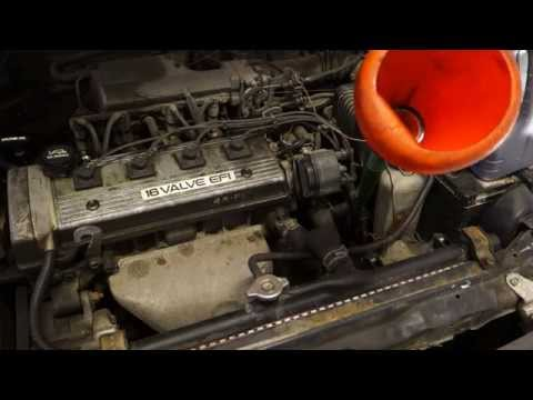 How to check automatic transmission oil level Toyota Corolla VVT-i engine