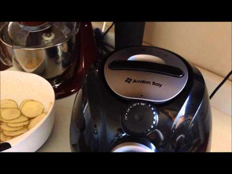 Air Fried Homemade Potato Chips Recipe in my AB Airfryer100B