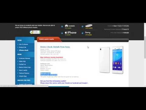 How to check Sony Xperia version and warranty ?