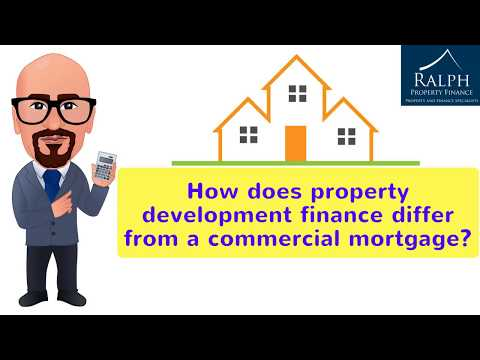 How does property development finance differ from a commercial mortgage?