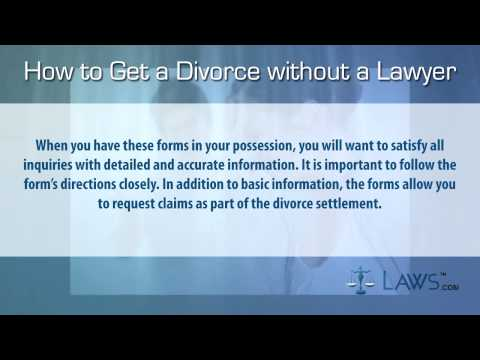 Get a Divorce Without a Lawyer