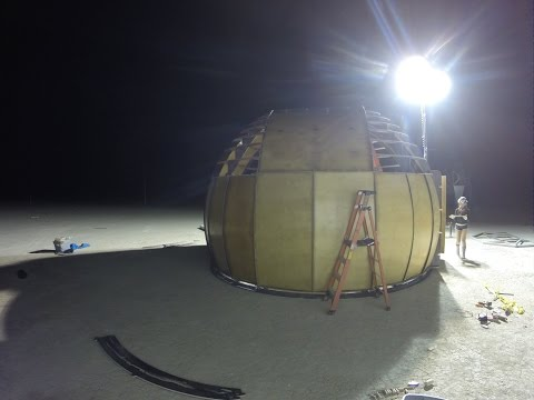 Black Rock Observatory 2015 - Building Dome 2