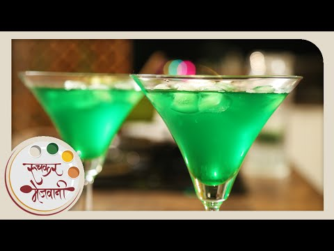 Homemade Khus Sharbat | Quick Party Mocktail | Recipe by Archana in Marathi | Summer Coolers