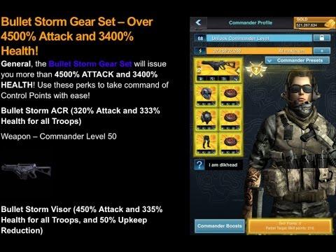 Mobile Strike NEW BULLETSTORM GEAR IS HERE! Comparison Vs Sole Assassin Gear + My Stats!
