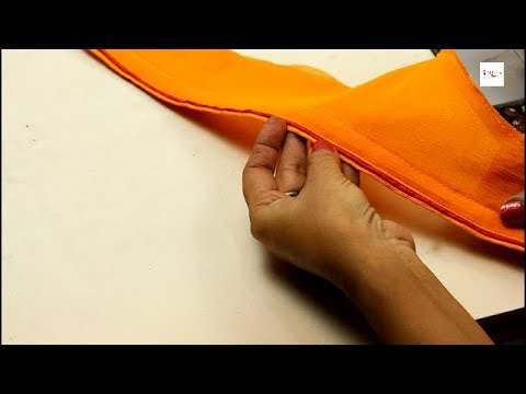 Sleeve design cutting and stitching, double color piping, dori piping, bias, how to  make piping,