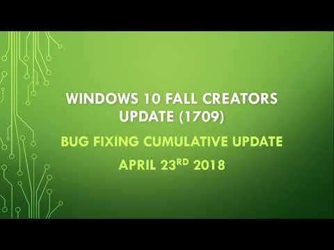 Fixit Windows 10 Fall Creators update Cumulative update KB4093105 April 24th 2018