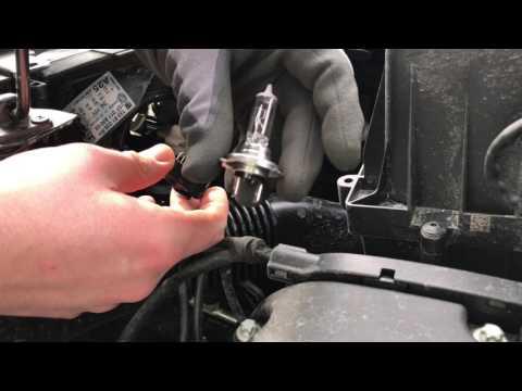 How to replace Headlamp bulb Vehicle lights changing headlights turn signal Vauxhall Corsa E DIY