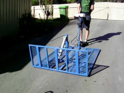 2 lane pneumatic BMX racing start gate.