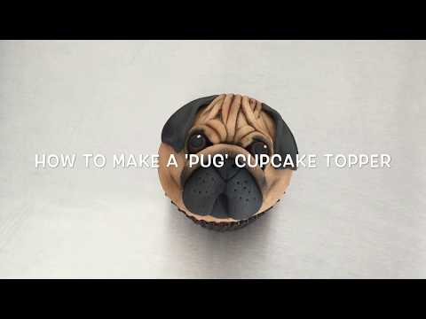 How to make a 'Pug Face' cupcake topper