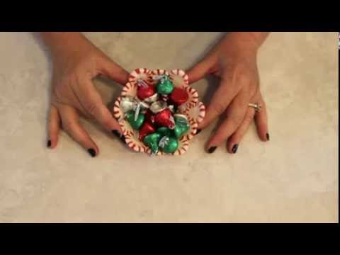 MAKE A CANDY DISH FROM PEPPERMINT CANDIES