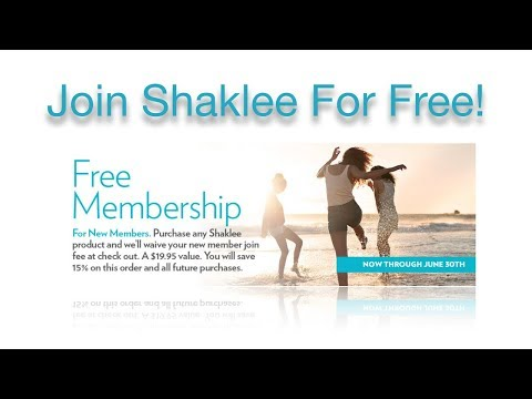 Join Shaklee For Free Today