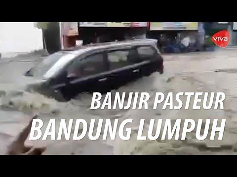 Detik-detik Banjir Besar Menerjang Pasteur, Kota Bandung