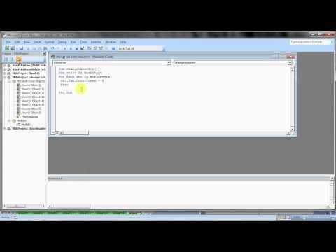 VBA: Code For Change Worksheet Tab Color in Excel (Hindi)