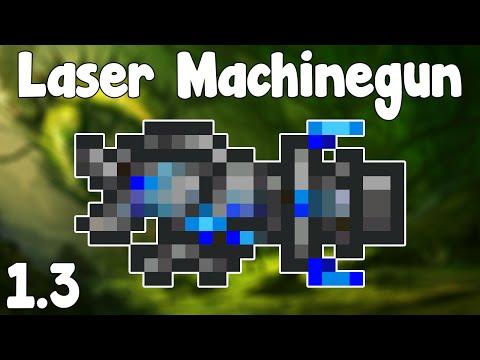Terraria 1.3 - Laser Machinegun , BLAST YOUR FOES! - Terraria 1.3 Guide New Magic