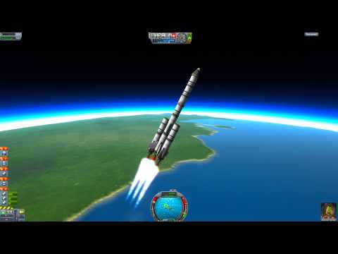 Kerbal Space Program 101 - Tutorial for Beginners Part 2 - Getting into Orbit & Returning Home!