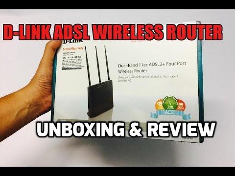 D-Link DSL-2877AL Dual Band AC750 ADSL2+ Modem Router Unboxing & Overview (INDIA)