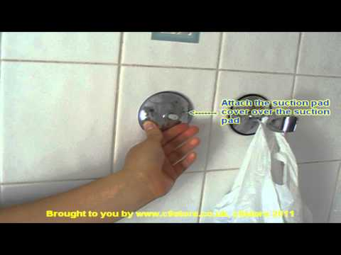 C9store suction fix shower head holder (includes chrome plated black and translucent suction pads)