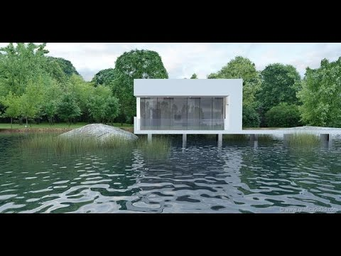 how to add water texture in scene sketchup vray
