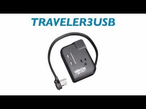 Tripp Lite Travel Surge Suppressor/Protector TRAVELER3USB