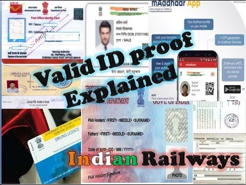 Valid id proof while travelling in Indian Railways | Ticket World