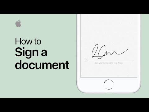 How to sign a document on your iPhone or iPad — Apple Support