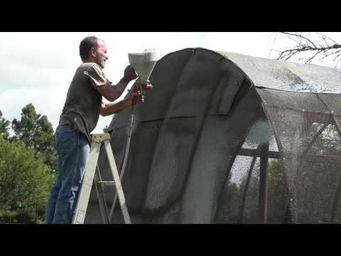 Spraying Shotcrete on my Storage Building Storm Shelter Part 2