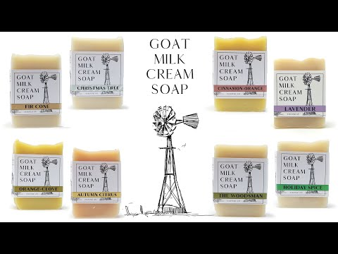 Goat Milk Cream Soap - Made with Heavy Cream from Grass-fed goats
