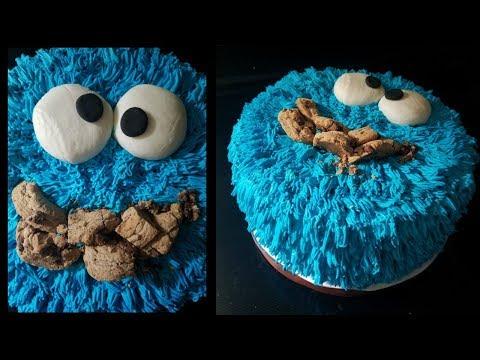 Cookie monster cake 🎂 pastel del monstruo de las galletas