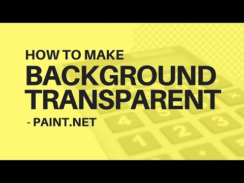 How to Make Background Transparent in Image - Paint.Net (FREE)