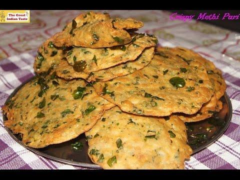 Crispy Methi Puri , fenugreek leaves Poori - Thegreatindiantaste.com