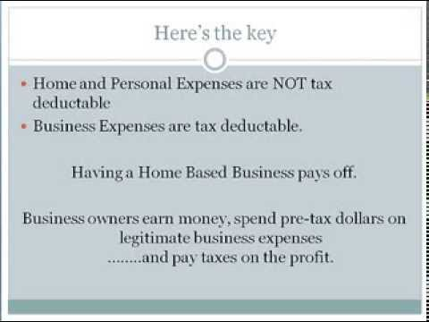 4 Minute Mentor - Tax Benefits of your Home Based Business.