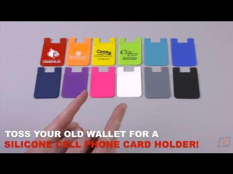 Toss Your Old Wallet For A Silicone Cell Phone Card Holder!