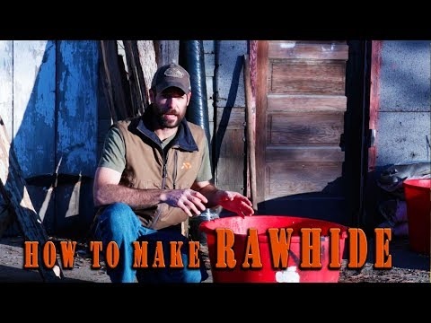 Hide Tanning  - Make Rawhide Leather from a Deer Skin