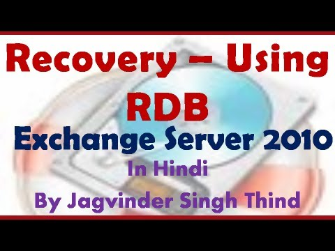 RDB How to recover deleted mailboxes in Exchange 2010 Video 134