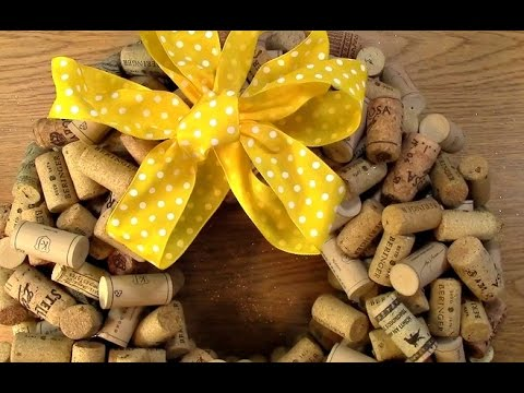 #78 Create your own Cork Wreath Part Three: Technique and Finish