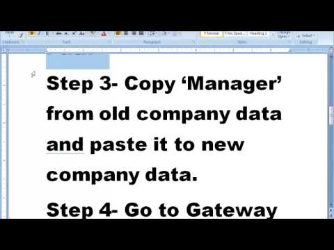 Import ledger and Stock Item from one company to another in Tally ERP 9