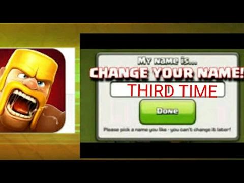 CHANGE COC NAME 3RD TIME