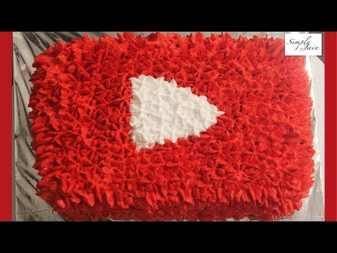 Celebrating 3 Years With A YouTube Button Cake | Simply Jain